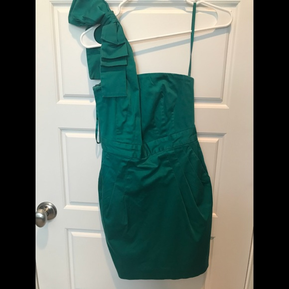 11930250148 French Connection Dresses | Emerald Green Dress | Poshmark